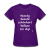 Beauty in Five Languages T-Shirt - purple