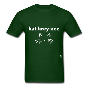 Cat Crazy T-Shirt - forest green