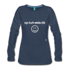 Optimistic Long Sleeve T-Shirt - navy
