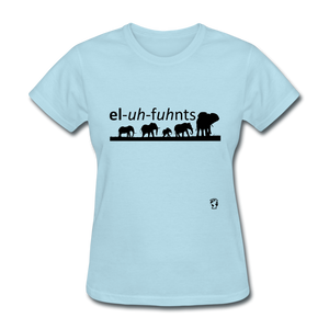 Elephants T-Shirt - powder blue