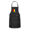 Rainbow Sheep Adjustable Apron - black