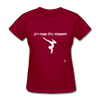 Gymnastic's Mom T-Shirt - dark red