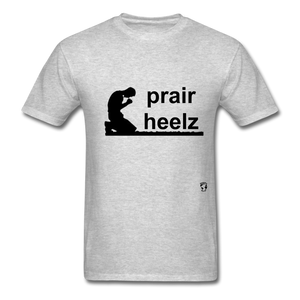 Prayer Heals T-Shirt - heather gray