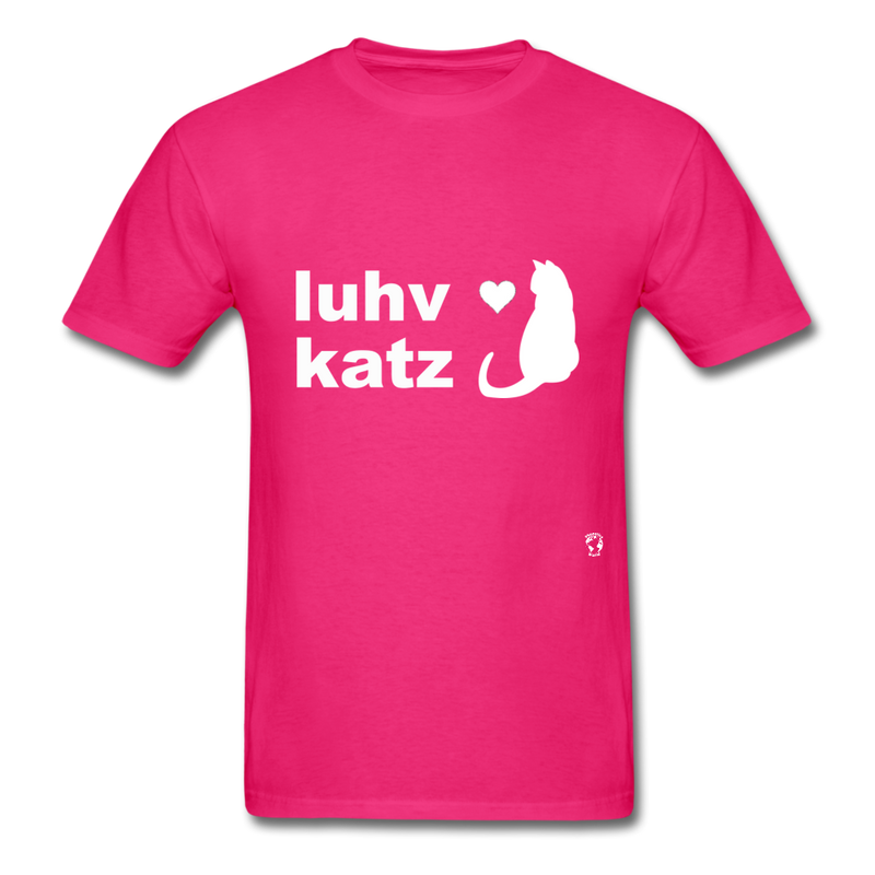 Love Cats T-Shirt - fuchsia