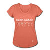 Health Coach Women's Tri-Blend V-Neck T-Shirt - heather bronze