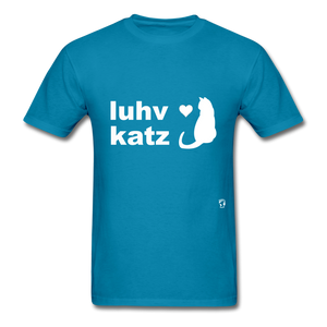 Love Cats T-Shirt - turquoise