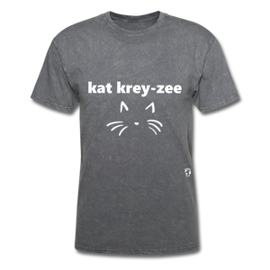 Cat Crazy T-Shirt - mineral charcoal gray