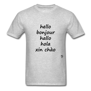Hello in Five Languages - heather gray