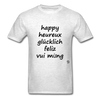 Happy in Five Languages - light heather grey