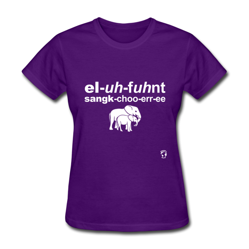 Elephant Sanctuary T-Shirt - purple heather