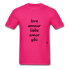 Love in Five Languages - fuchsia