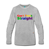 Can't Think Straight Long Sleeve T-Shirt - heather gray