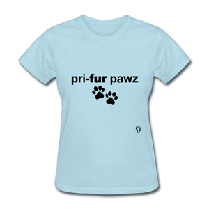 Prefer Paws T-Shirt - powder blue
