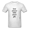Love in Five Languages - light heather grey
