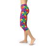 Womens Rainbow Pinwheel Capri Leggings