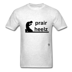 Prayer Heals T-Shirt - light heather grey