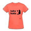 Love Cats T-Shirt - heather coral