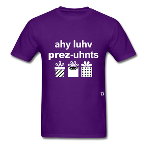 I Love Presents T-Shirt - purple