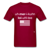 American Loyalty T-Shirt - dark red
