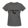Prefer Paws T-Shirt - charcoal