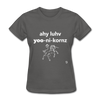 I Love Unicorns T-Shirt - charcoal