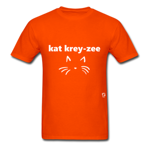 Cat Crazy T-Shirt - orange