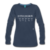 Enthusiastic Long Sleeve T-Shirt - navy