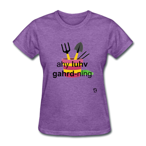 I Love Gardening T-Shirt - purple heather