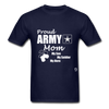 Proud Army Mom T-Shirt - navy