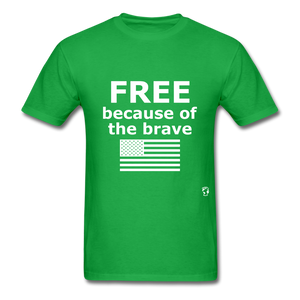 Free Becasue of the Brave T-Shirt - bright green