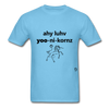 I Love Unicorns T-Shirt - aquatic blue