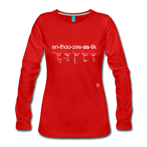 Enthusiastic Long Sleeve T-Shirt - red