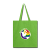 Love Tote Bag - lime green