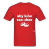 I Love Sushi T-Shirt - red