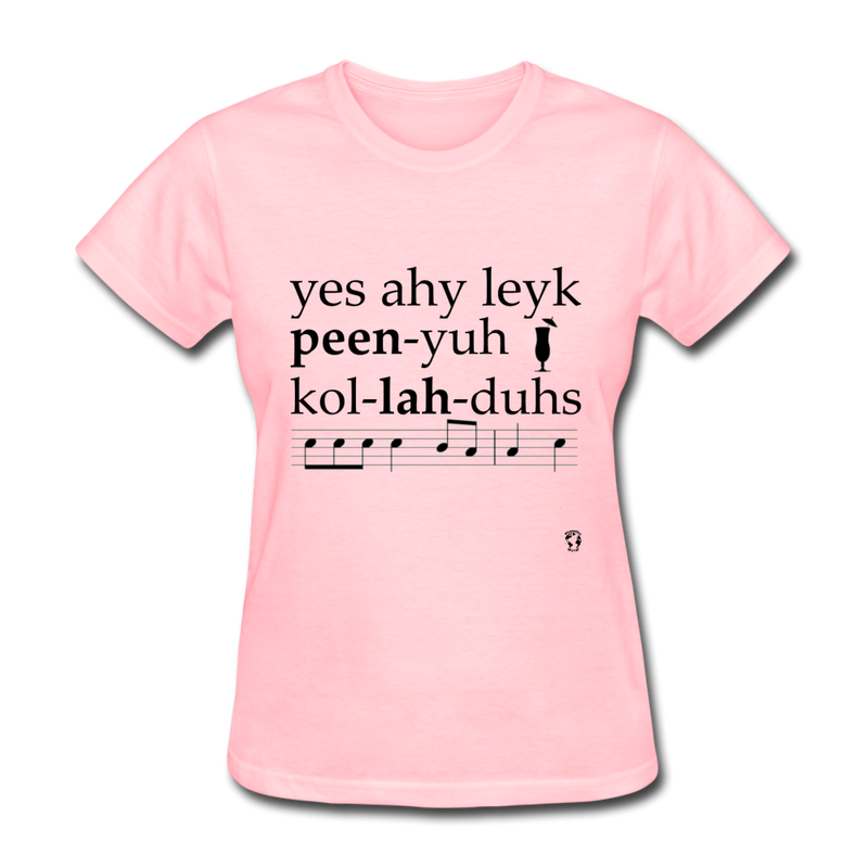 Yes I Like Pina Coladas T-Shirt - pink