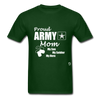 Proud Army Mom T-Shirt - forest green