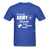 Proud Army Mom Red White and Blue T-Shirt - royal blue