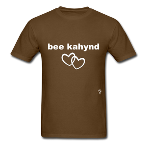 Be Kind T-Shirt - brown