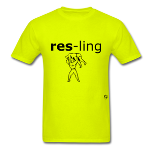 Wrestling T-Shirt - safety green