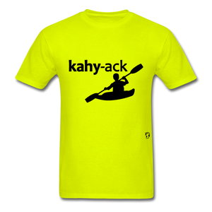Kayak T-Shirt - safety green