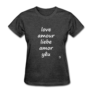 Love in Five Languages T-Shirt - heather black