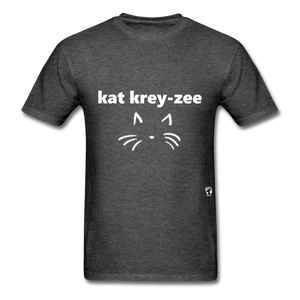 Cat Crazy T-Shirt - heather black