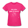 I Love Unicorns T-Shirt - fuchsia