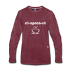 Espresso Long Sleeve T-Shirt - heather burgundy