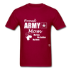 Proud Army Mom T-Shirt - dark red