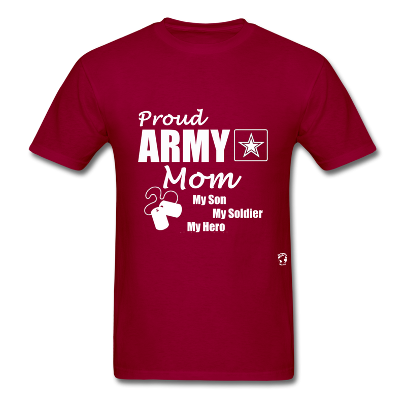 Proud Army Mom T-Shirt - red