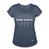 Health Coach Women's Tri-Blend V-Neck T-Shirt - navy heather