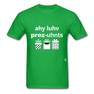 I Love Presents T-Shirt - bright green