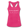 Enthusiastic Racerback Tank Top - hot pink