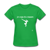 Gymnastic's Mom T-Shirt - bright green